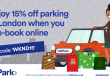 15% off weekend parking in London
